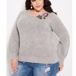 Ashley Stewart Broach Sweater NWT